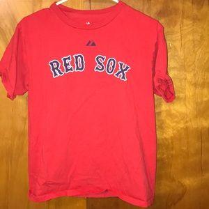 Kids Majestic Red Sox shirt
